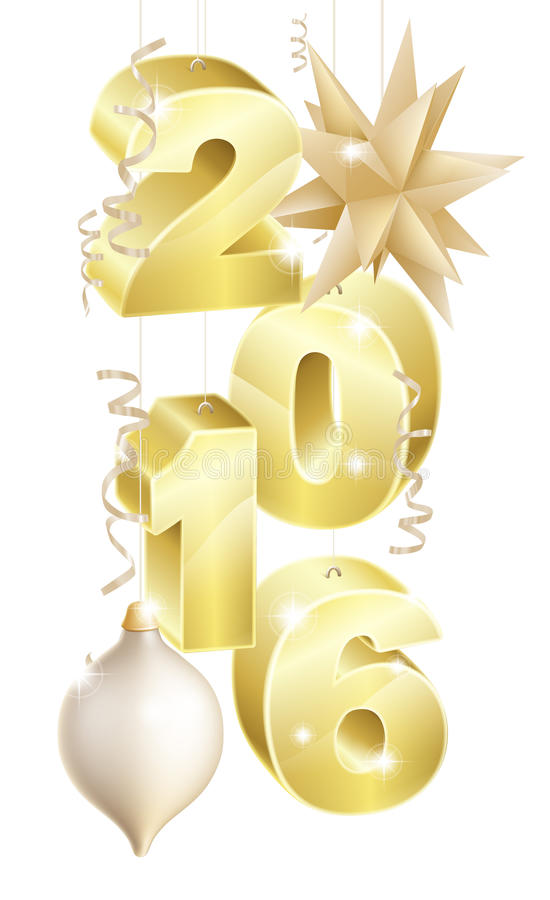 2016 Natale o ornamenti del nuovo anno royalty illustrazione gratis