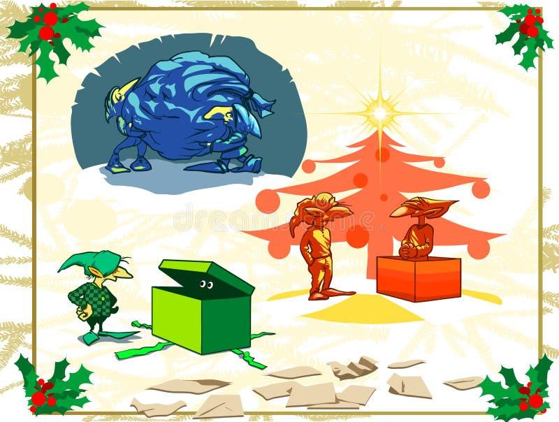 Natale - pacchetto dei Goblins fotografia stock libera da diritti