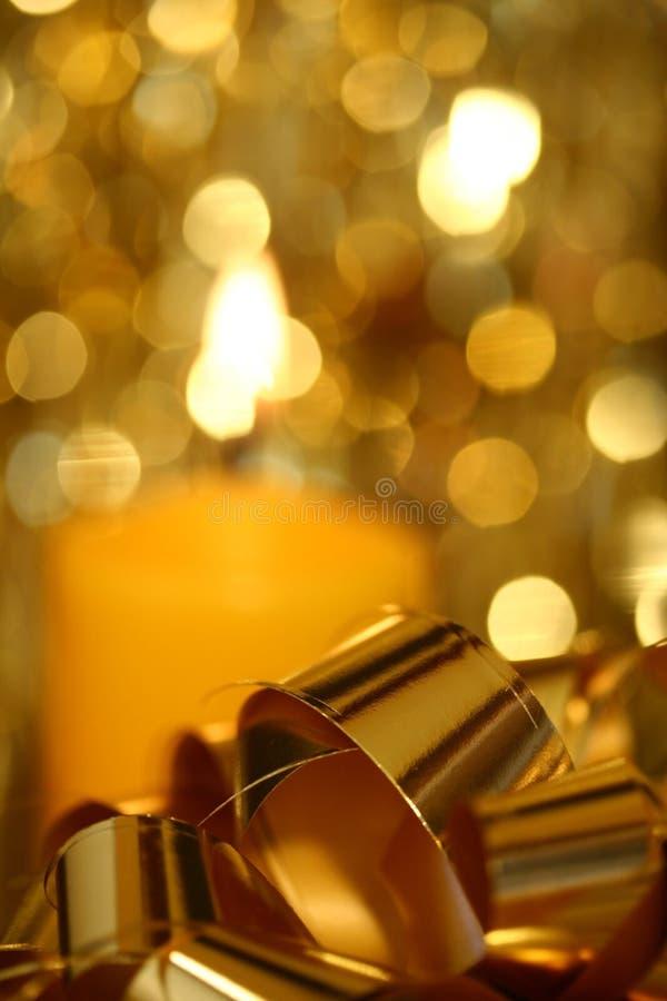 Natale - particolare dorato I fotografia stock libera da diritti