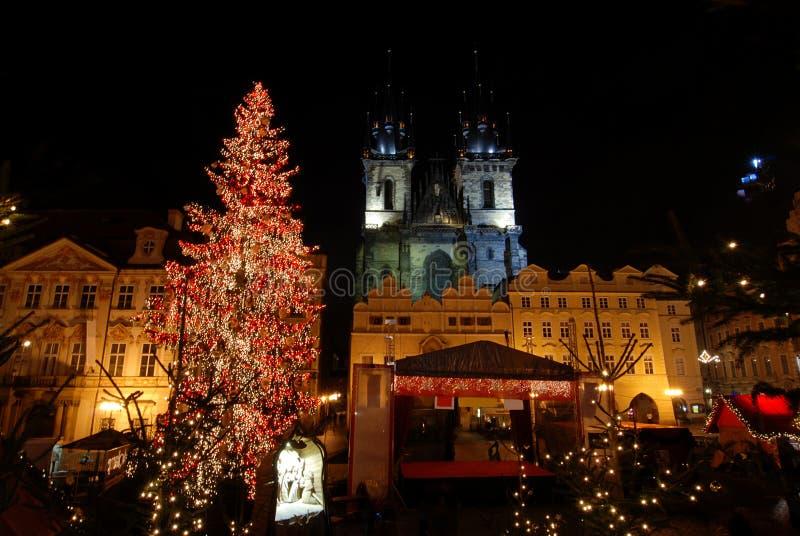 Natale Praga immagine stock