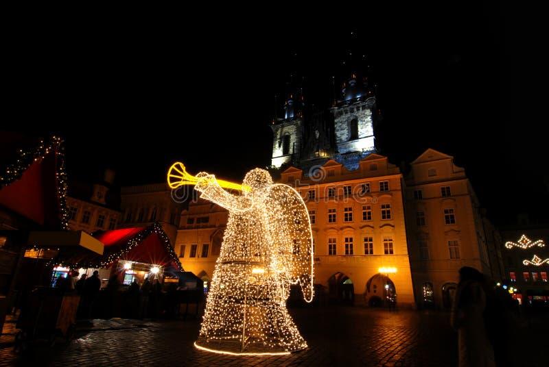 Natale Praga fotografie stock