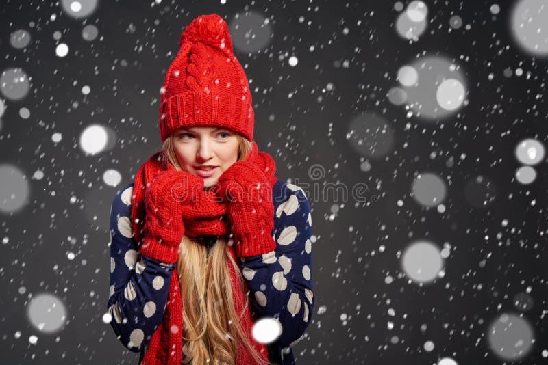 Natale ragazza, concetto di inverno immagine stock
