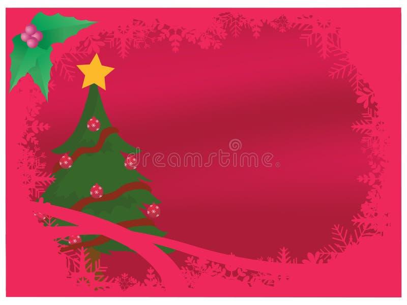 Natale rosso illustrazione vettoriale