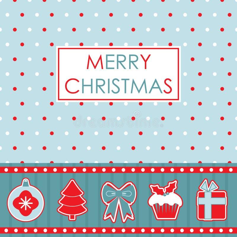 Natale rosso e blu illustrazione di stock