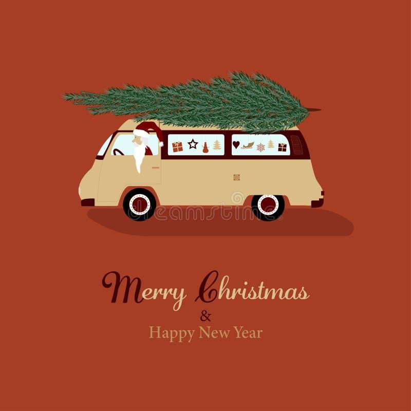 Natale Santa Claus del tempo illustrazione di stock