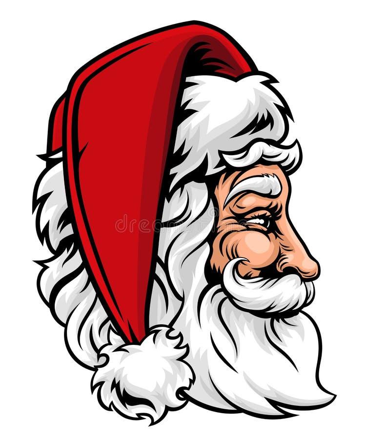 Natale Santa Claus nel profilo illustrazione vettoriale