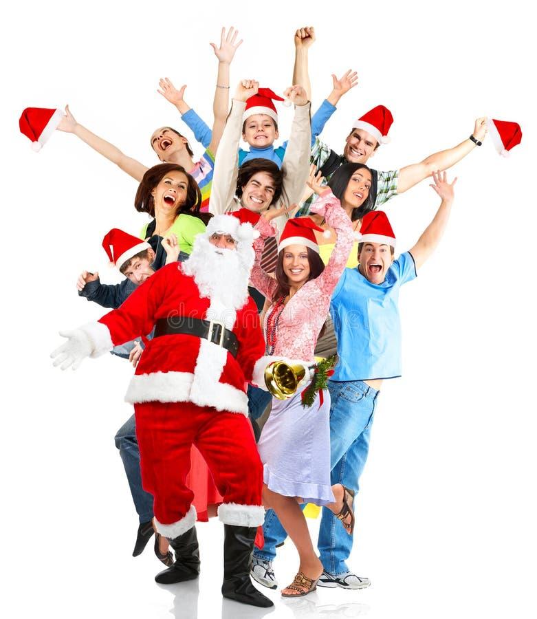 Natale, Santa, la gente immagine stock