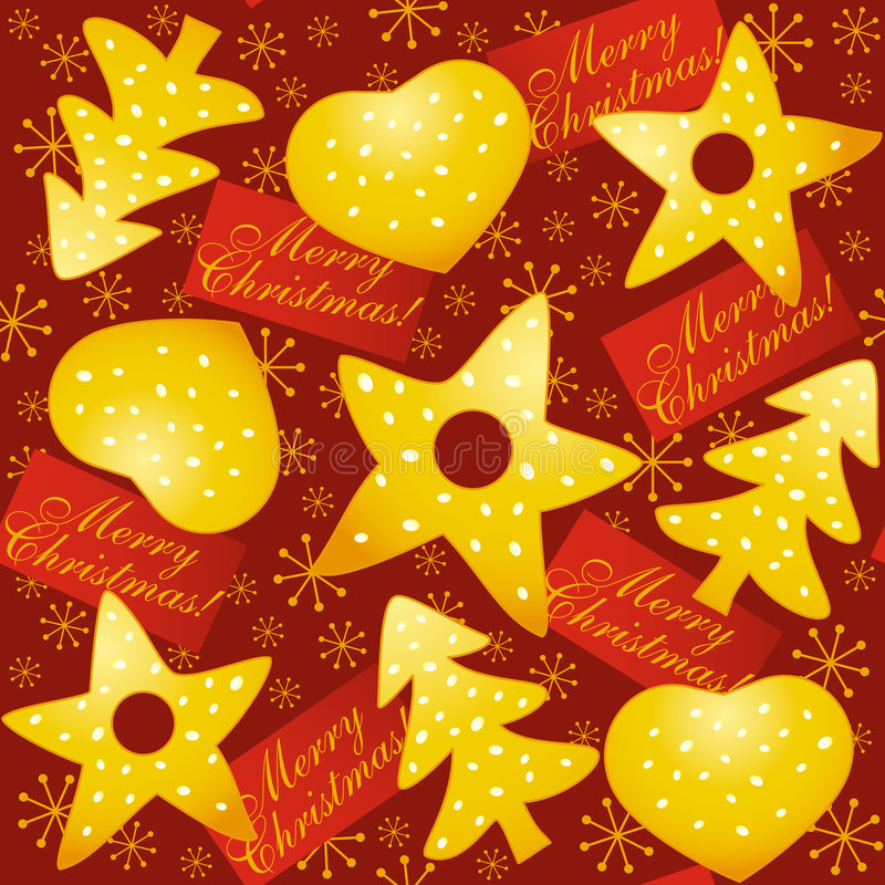 Natale senza giunte royalty illustrazione gratis