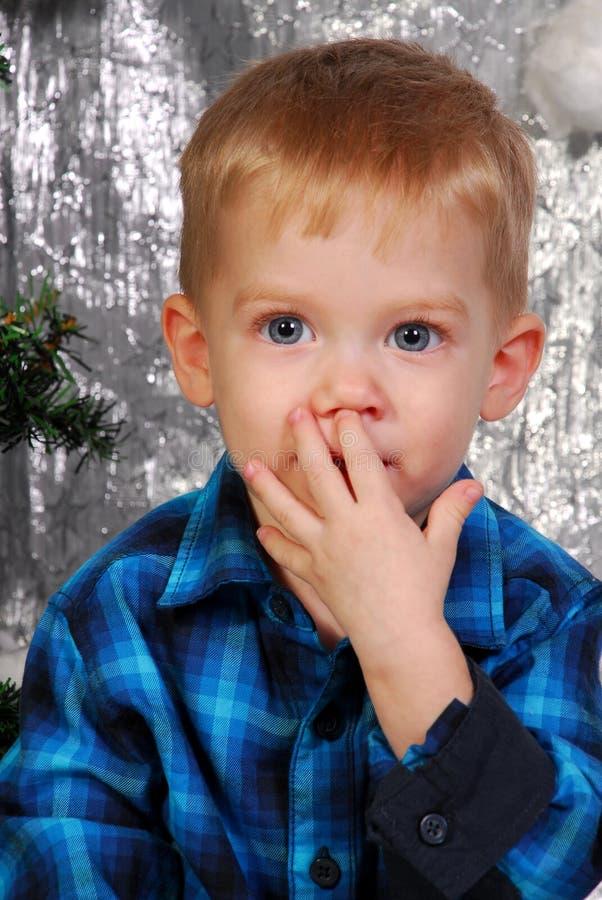 Natale sveglio del bambino del ragazzo immagini stock