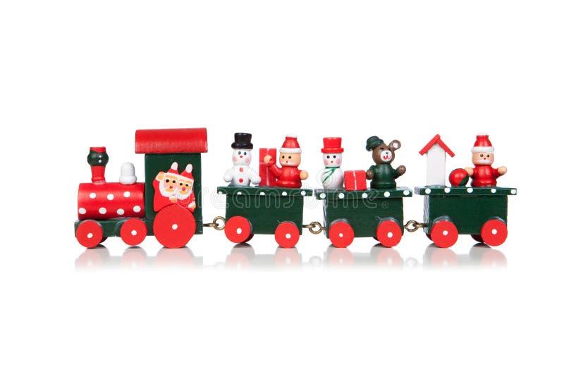 Natale Toy Train fotografie stock