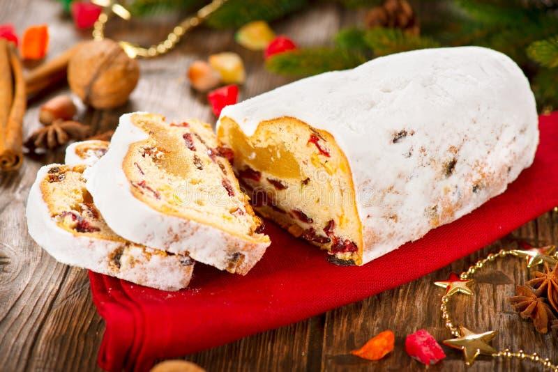 Natale tradizionale Stollen fotografia stock