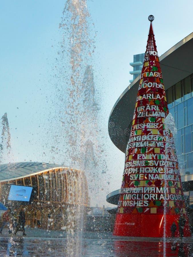 Natale in una città moderna immagini stock