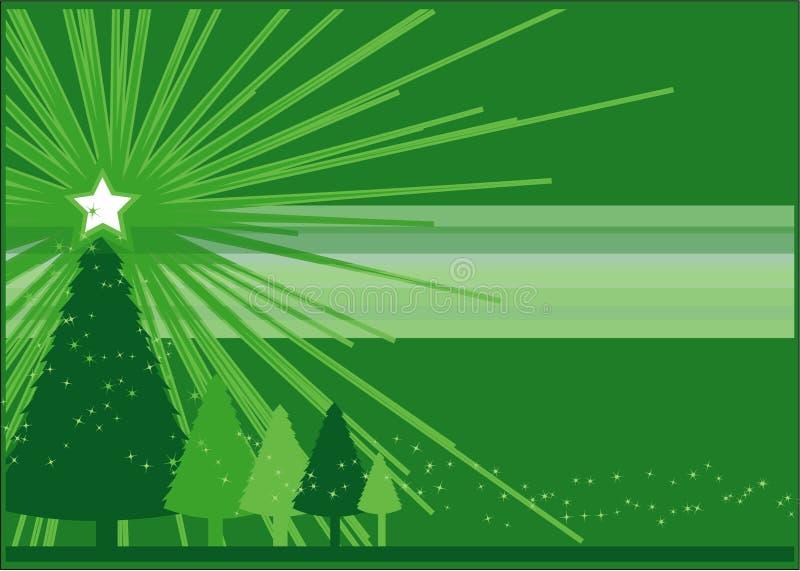 Natale verde illustrazione vettoriale