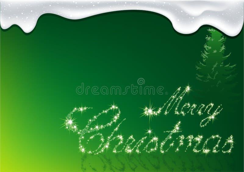 Natale verde - cartolina d'auguri illustrazione vettoriale