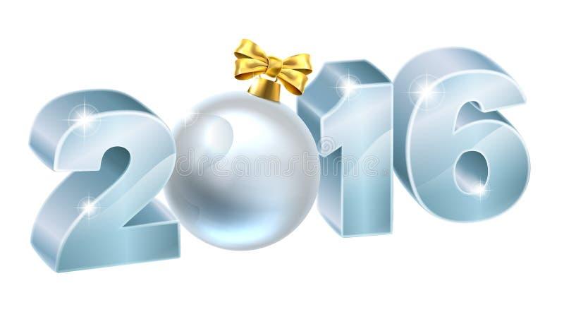 2016 Natali o bagattella del nuovo anno illustrazione vettoriale