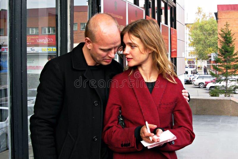 Natalia Vodianova et Justin Portman photo libre de droits
