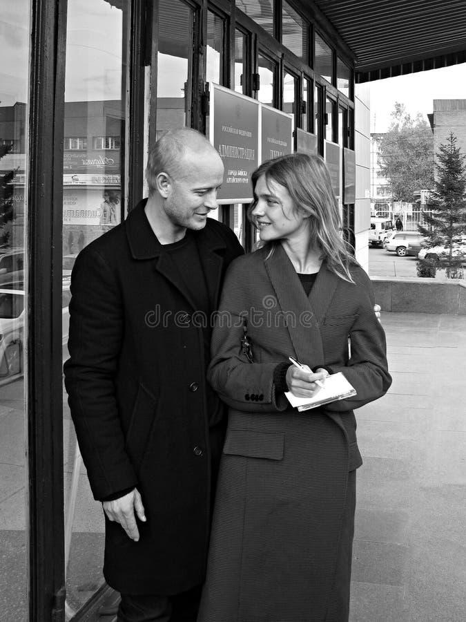Natalia Vodianova et Justin Portman photos libres de droits