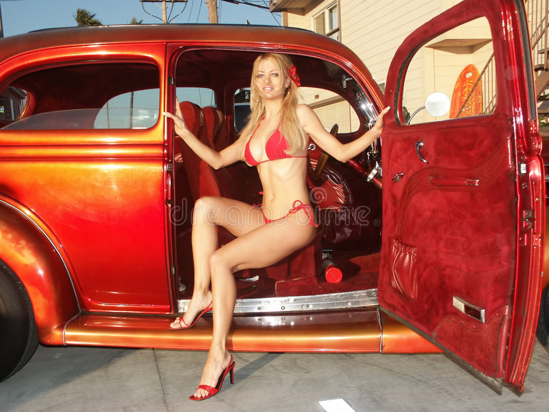 Natalie Hotrod 4 Stockfotos