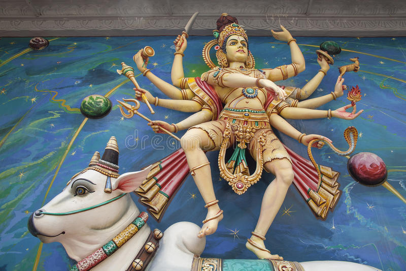 Nataraj Dancing Shiva Statue royalty free stock image