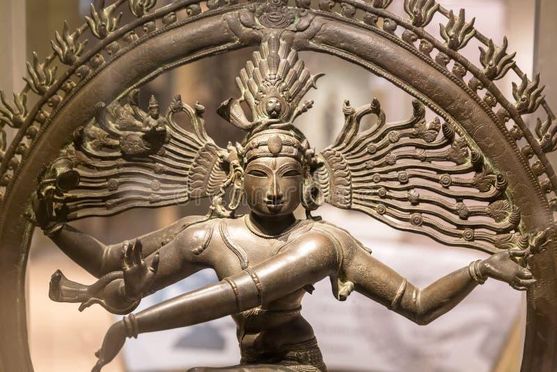 Nataraja雕塑,舞蹈的新德里,印度阁下, 免版税库存照片
