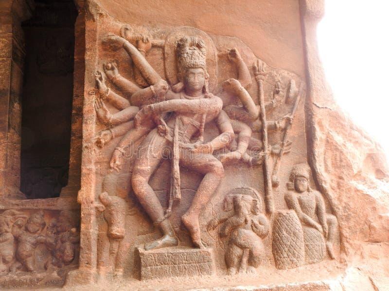 Nataraja som dansar Shiva arkivbild