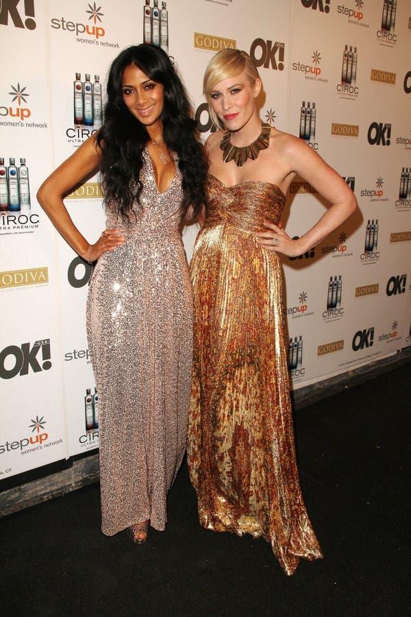 Natasha Bedingfield, Nicole Scherzinger imagem de stock