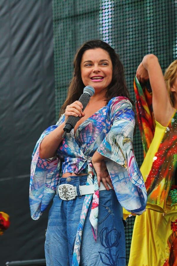 Natasha Koroleva â€' sowieci, Rosyjski wystrzału piosenkarz i aktorka Ukraiński początek zdjęcia stock