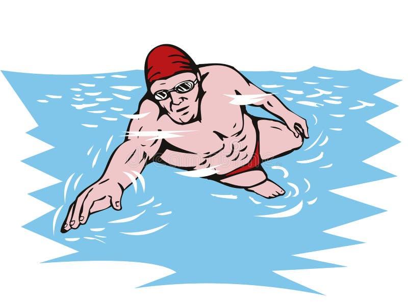 natation illustration libre de droits