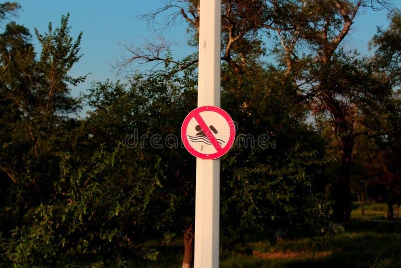 Natation interdite photo stock