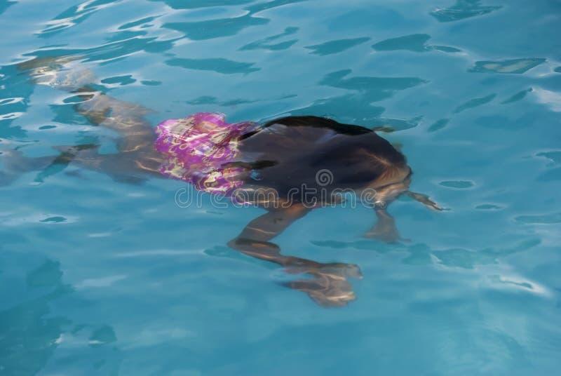 Natation sous l'eau photos libres de droits