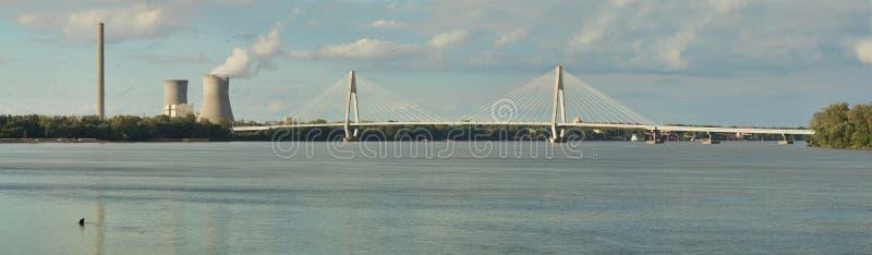 Natcher Bridge over the Ohio River royalty free stock photos