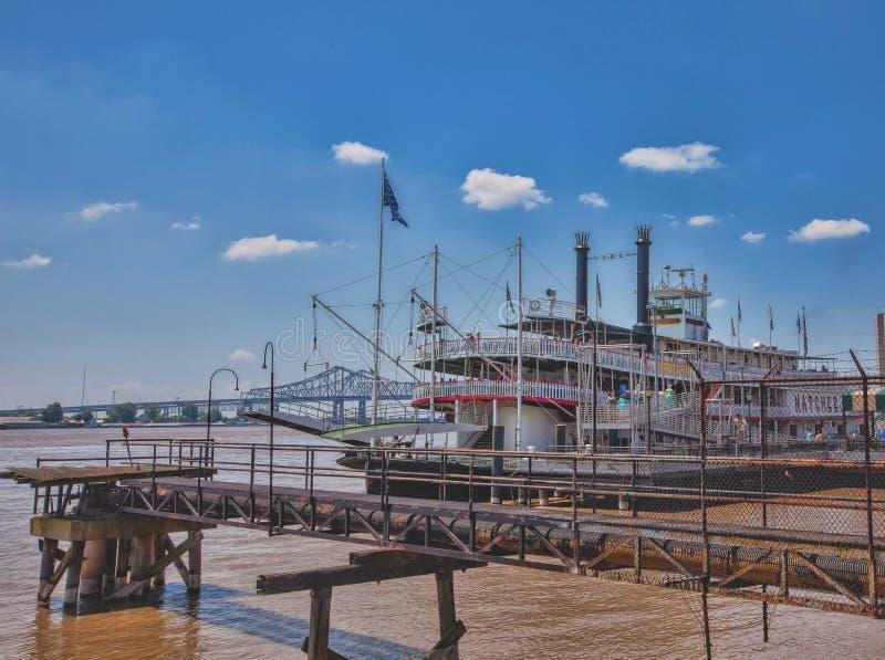 Natchez Riverboat na Mississippi przy Nowy Orlean fotografia royalty free