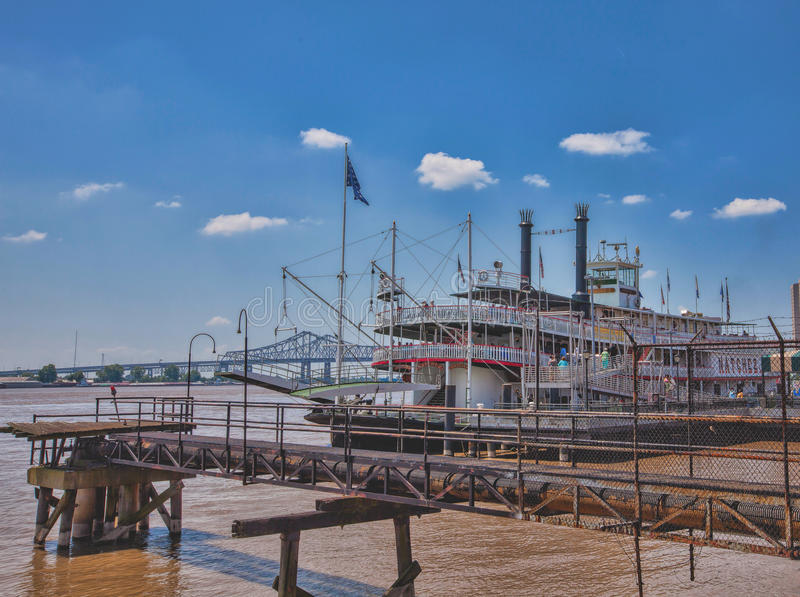 Natchez Riverboat op de Mississippi in New Orleans royalty-vrije stock fotografie