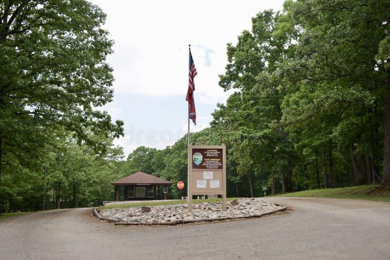 Natchez Trace State Park Campground fotos de stock