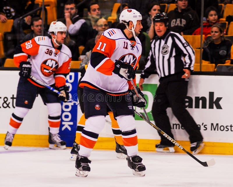 Nate Thompson, New York Islanders stock foto's