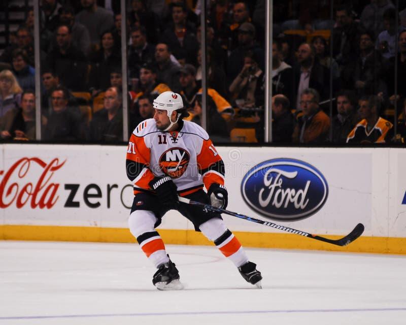 Nate Thompson, New York Islanders stock foto
