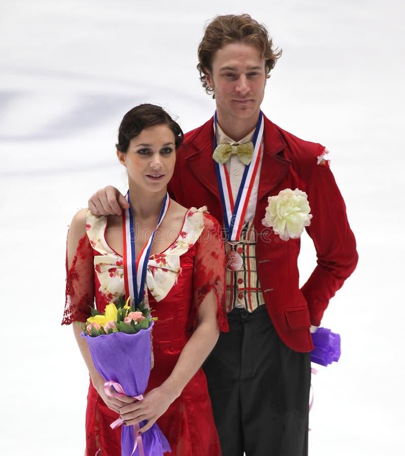 Nathalie Pechalat and Fabian Bourzat of France stock image