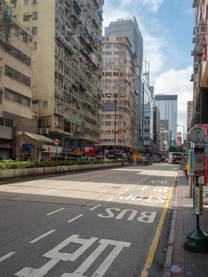 Nathan droga, Hong Kong fotografia stock