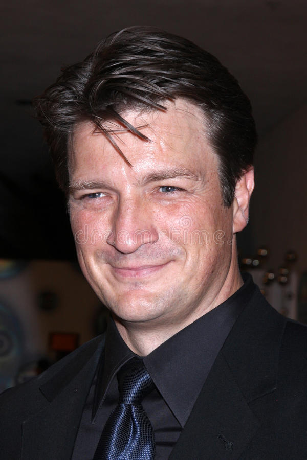 Nathan Fillion stock afbeelding