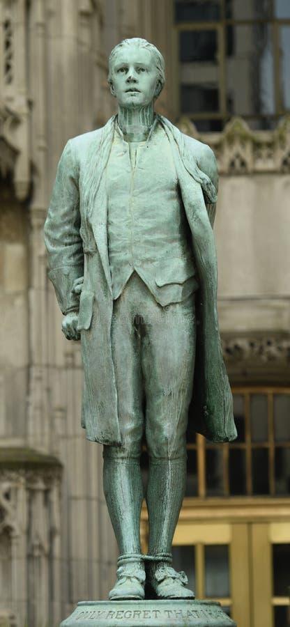 Nathan Hale Statue imagen de archivo libre de regalías