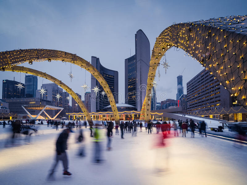 Download Nathan Phillips Square stock photo. Image of city, hall - 36297948