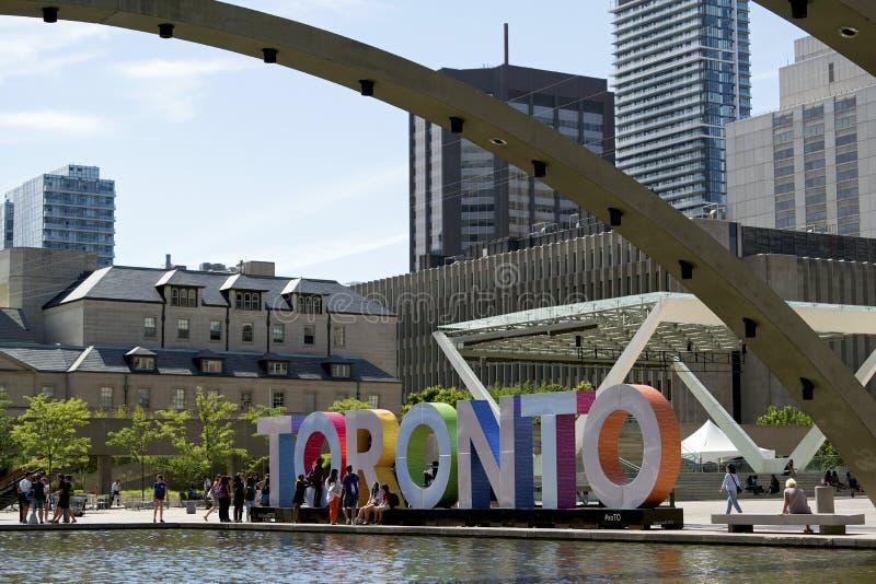 Nathan Phillips Vierkant Toronto stock afbeeldingen
