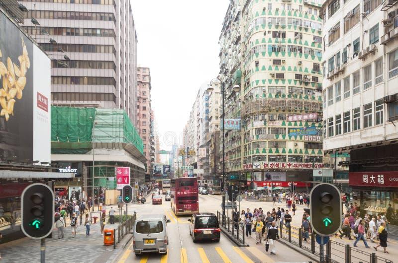 Nathan Road dans Kowloon, Hong Kong images stock