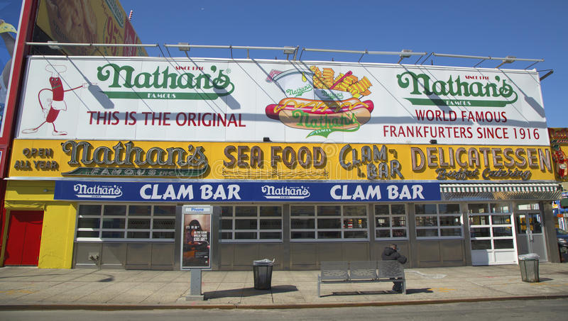 Download The Nathan's Original Restaurant Editorial Photography - Image of coney, eating: 39511892