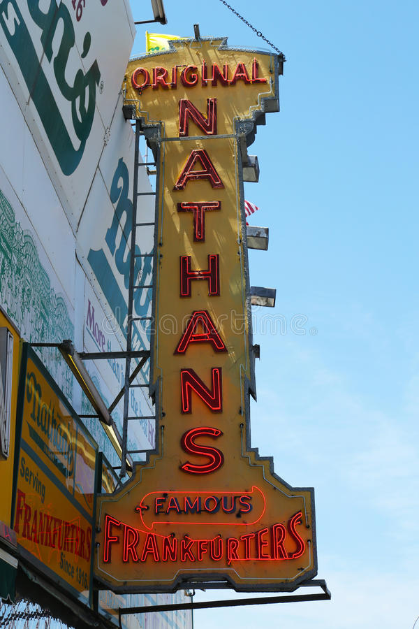 The Nathan s original restaurant at Coney Island, New York