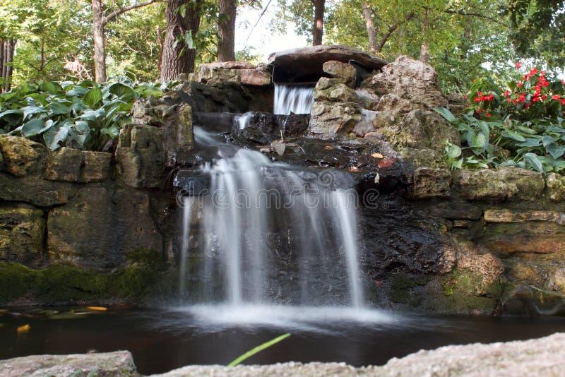 Nathaniel Green Park, Springfield Missouri Waterfall stock images