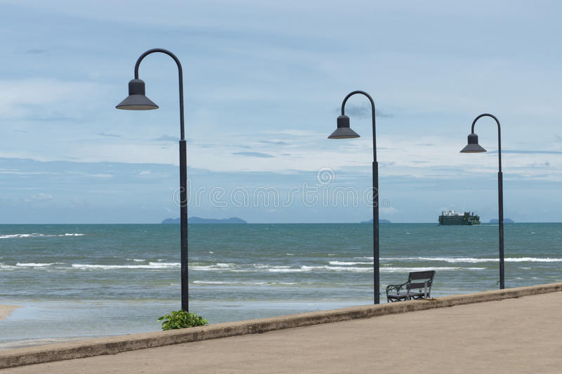 Nathon färjaport på Koh Samui Island royaltyfria foton