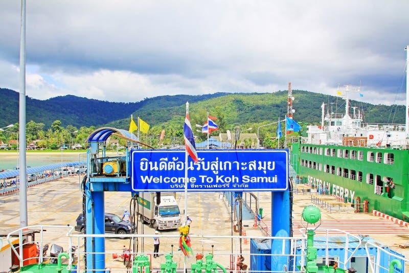 Nathon Pier, Koh Samui, Thailand. Koh Samui is an island off the east coast of the Kra Isthmus, Thailand stock photo