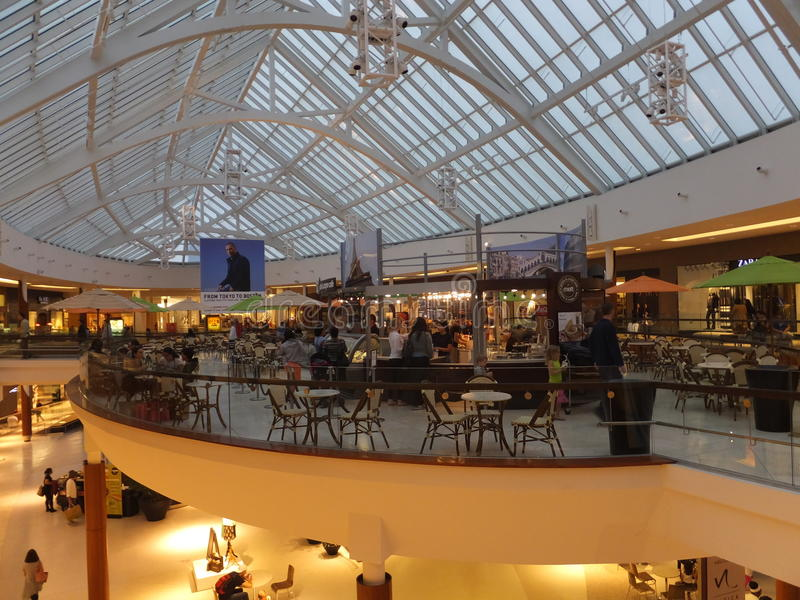 Natick Mall in Natick, Massachusetts. It is the largest mall in New England in terms of total number of stores royalty free stock photo