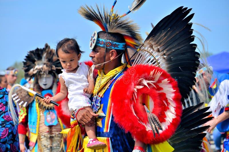 Natif américain et enfant photo stock